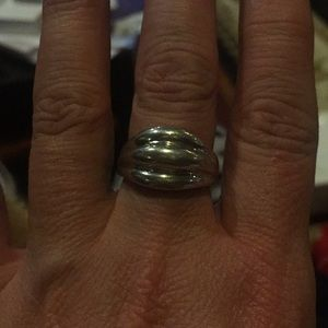 Stainless steel silver ring size 8